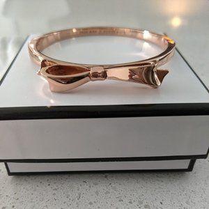 Rose Gold Kate Spade Bow Cuff/Bangle